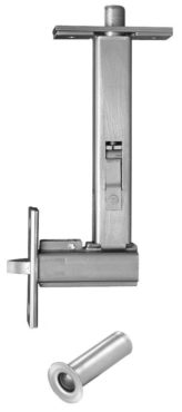 #7969 — Automatic Flush Bolt with Bottom Fire Bolt - Wood Door - Two Piece Design
